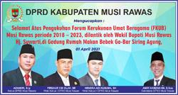 11 DPRD MUSI RAWAS Mengucapkan Selamat atas Pengukuhan FKUB 2018 2023