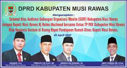 12 DPRD MUSI RAWAS Mengucapkan Selamat atas Audensi GOW dengan Bupati Musirawas