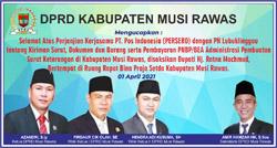 14 DPRD MUSI RAWAS Mengucapkan Selamat atas Kerjasama PT Pos Indonesia dengan PN Lubuklinggau