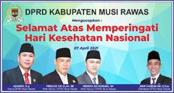 16 DPRD MUSI RAWAS Mengucapkan Selamat Memperingati Hari Kesehatan Nasional
