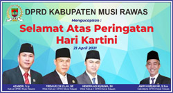 20 DPRD MUSI RAWAS Mengucapkan Selamat Memperingati Hari Kartini 2021