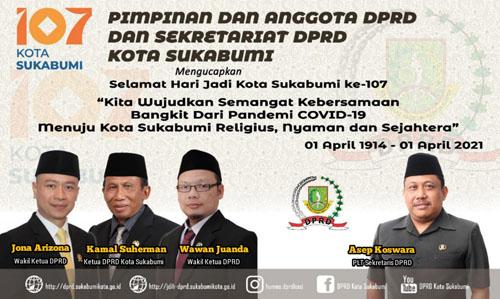 DPRD Kota Sukabumi Mengucapkan Hari Jadi Ke 107 Kota Sukabumi