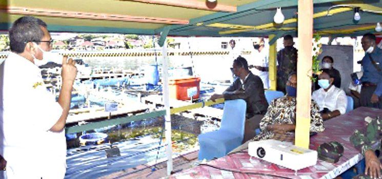 Kodam XVIPattimura Berikan Pelatihan Budidaya Ikan Kepada Kelompok Nelayan Keramba Jaring Apung 2