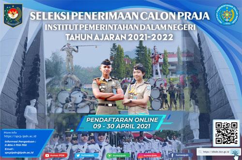 Seleksi Penerimaan Calon Praja IPDN TA 2021 2022