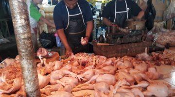 H 7 Lebaran Harga Daging di Kota Sukabumi Merangk