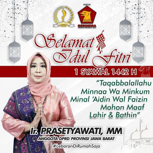 PRASETYAWATI Anggota DPRD Jabar Mengucapkan Selamat Idul Fitri 1 Syawal 1442 H