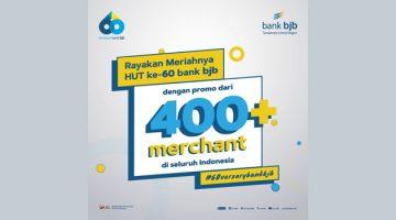 Rayakan HUT ke 60 bank bjb Gelar Promo di Ratusan Merchant 1