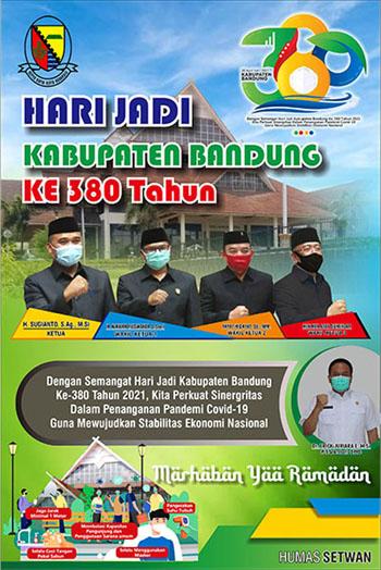 DPRD Kabupaten Bandung Mengucapkan Hari Jadi KABUPATEN BANDUNG Ke 380