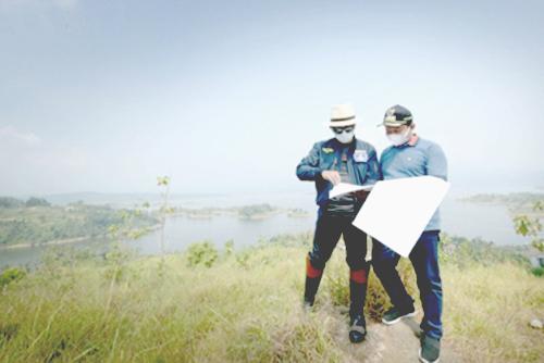 Gubernur Jawa Barat Meninjau Lokasi Landmark Kawasan Jatigede