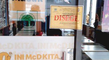 Satpol PP Segel Sejumlah Gerai Mcdonald's Karena Timbulkan Kerumunan
