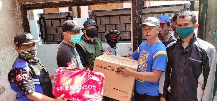 Dinsos Kota Sukabumi Salurkan Bantuan Kepada Korba
